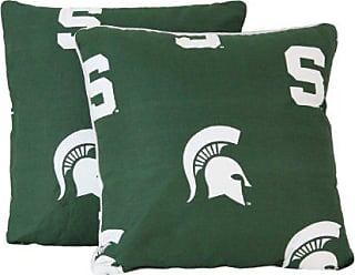 King Solid Includes 2 King Pillowcases College Covers Michigan State Spartans Pillowcase Pair