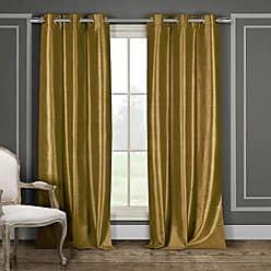 Duck River Textile s Bali Faux Silk Grommet Top Window Curtain 2 Panel Drape, 38W x 84L, Mustard