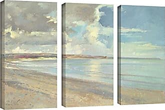 Brushstone Timothy Easton Reflected Clouds, Oxwich Beach, 2001 3 Piece Gallery Wrapped Canvas Set, 24X36