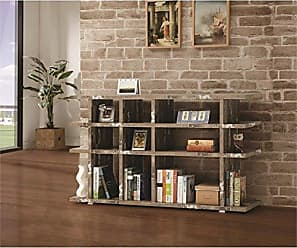 Coaster 800848-CO 3 Shelf Low Bookcase, Salvaged Cabin