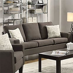 Coaster Home Furnishings Bachman Sofa with Track Arms Grey