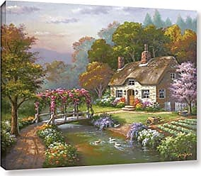 Brushstone Sung Kim Rose Cottage Gallery Wrapped Floater-framed Canvas, 18X24