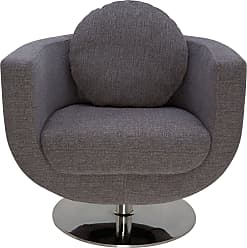NUEVO Simone Swivel Arm Chair Grey Fabric - HGDJ171