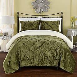 Chic Home Josepha Bedding Set, King Comforter, Green