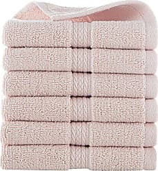 Westpoint Home GRAND PATRICIAN SUITES 6 PIECE COTTON WASH CLOTH SET - 6 WASH CLOTHS - Densely Woven 3 ply Loop Yarn, 100% Cotton, Thick, Plush, Ultra Absorbent - Luxury, Hotel, Bathroom - Pale Dogwood Pink