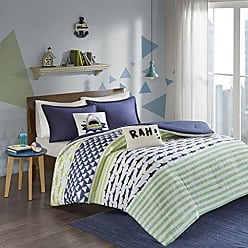 Urban Habitat Finn Comforter Set, Green/Navy