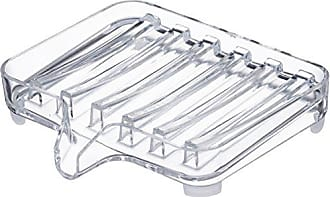Yamazaki Home 3250 Veil Self Draining Soap Tray CL Space Saving, One Size, Clear