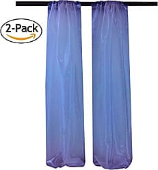 LA Linen DBOrganza58x96_Pk2_RoyalO50 ((2 Pack) Mirror Organza Backdrop, 58 x 96, Royal Blue