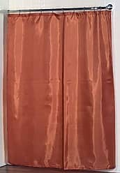 Ben&Jonah Ben & Jonah 100% Polyester Fabric Shower Curtain Liner with Weighted Bottom Hem in Tangerine, Size 70X72 Splash Collection by Ben&Jonah