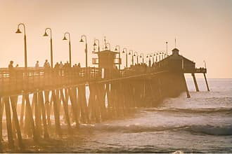 Noir Gallery Imperial Beach Pier at Sunset in San Diego Metal Wall Art - TI-09-MP-08