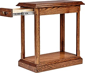 Forest Designs Traditional Rectangle End Table Unfinished Alder, Size: 20 in. - 2118- TM-20H-UA