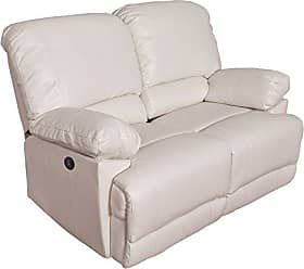 CorLiving LZY-312-L Lea Collection Recling Loveseat, White