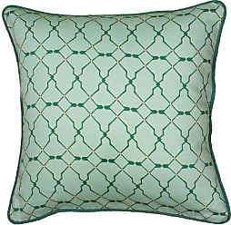 Rizzy Home 18 x 18 Pillow T06222 Green 100% Cotton