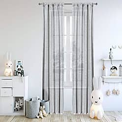 Duck River Textile Lala + Bash - Home Fashion Floral Vine Sheer Burnout Pole Top Window Curtains for Living Room & Bedroom - Assorted Colors - Set of 2 Panels (38 X 84 Inch - Grey)