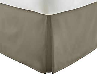 iEnjoy Home Premium Pleated Bed Skirt, King, Taupe