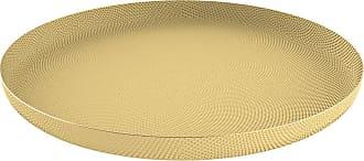 Alessi Jasper Morrison Textured Brass Tray - Round