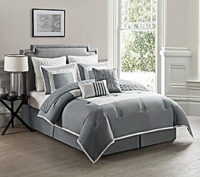 VCNY Home VCNY 9 Piece Marion Comforter Set, Full/Queen, Gray