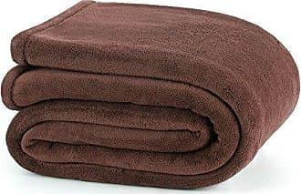 Westpoint Home Martex Plush Blanket, Full/Queen, Brown