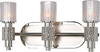Kalco Ashington 3-Light Bath Vanity in Polished Satin Nickel