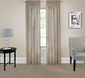 Ellery Homestyles Pairs To Go 16005118X095TAU Victoria Voile 118-Inch by 95-Inch Window Panel Pair, Taupe