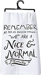 Primitives By Kathy LOL Made You Smile Dish Towel, 28 by 28, Nice and Normal Family