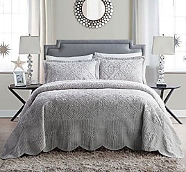 VCNY Home VCNY Home WS1-2BP-TWIN-IN-GV Westland Plush Quilted 2 Piece Bedspread Set, Grey, Twin