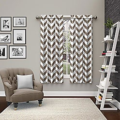 Ellery Homestyles Pairs To Go 15613056X063TAU Dewitt 56-Inch by 63-Inch Window Curtain Pair, Taupe