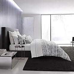 Revman International Vera Wang Shibori Grid Comforter Set, King, White