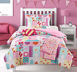 Chic Home Candy 4 Piece Comforter Set Stitched Patchwork Life is Sweet Theme Youth Design Bedding - Throw Blanket Decorative Pillow Sham Included, Twin