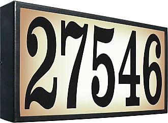QualArc Extra-Large Lighted Address Plaque - SRXL-AB13-BLK