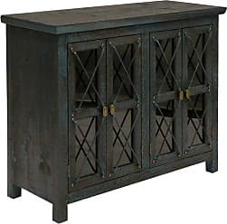 StyleCraft Four Door Decorative Chest with Leaded Glass Inserts - SF24464DS