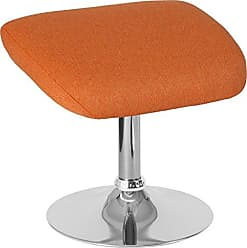 Flash Furniture CH-162430-O-OR-FAB-GG Egg Series Ottoman, Orange Fabric