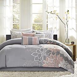 Madison Park Lola Comforter, California King Size, Grey/Blush