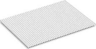 Kohler Storable Large Silicone Dish Drying Mat 11 x 15, Heat Resistant up to 500 Degrees F, White