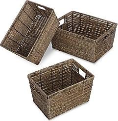 Whitmor Distressed Rattique Storage Baskets Set of 3