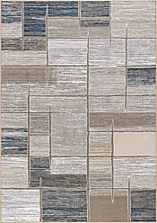 Tayse Jody Contemporary Abstract Taupe Non-Skid Rectangle Area Rug, 5 x 7