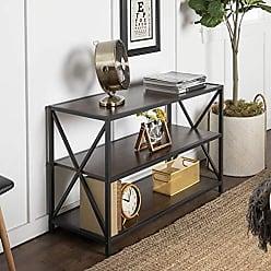Walker Edison WE Furniture AZS40XMWDW Media Bookshelf, Dark Walnut