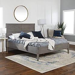 Walker Edison WE Furniture AZWQCHEVGY Queen Bed, Grey