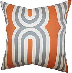 The Pillow Collection Persis Geometric Bedding Sham Orange Standard/20 x 26