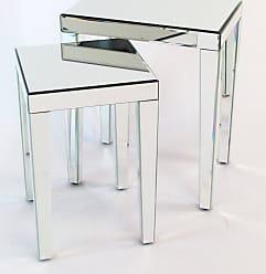 Wayborn Beveled Rectangular Mirror End Tables - Set of 2 - MC005