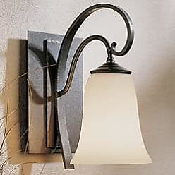 Hubbardton Forge Scroll Single Line Wall Sconce with Glass