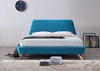 Omax Decor Henry Upholstered Platform Bed Light Grey - BU1012G