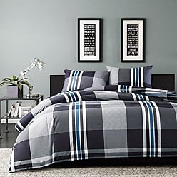 Ink + Ivy Ink+Ivy Nathan Twin Comforter Set Teen Boy Bedding - Grey, Plaid - 2 Piece Bed Sets - 100% Cotton Yarn Bed Comforter