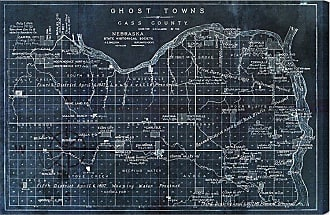 Hatcher & Ethan Ghost Towns Map 1866 Noir Canvas Art - HE10925_60X40_CANV_XXHD_HE