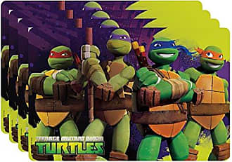 Zak designs Nickelodeon Ninja Turtles Kids Placemat, Set of 4, Leonardo, Donatello, Michelangelo & Raphael