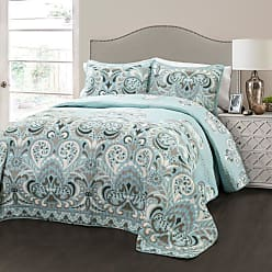 Lush Décor Clara Quilt Set by Lush Decor Turquoise/Tangerine, Size: Full/Queen - 16T000186