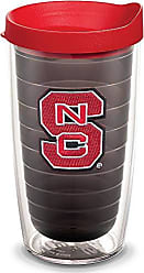 Trevis Tervis 1055315 NC State Wolfpack Logo Tumbler with Emblem and Red Lid 16oz, Quartz