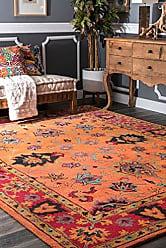 nuLOOM SPRE21A Hand Tufted Montesque Wool Rug, 3 x 5, Orange
