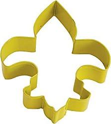 CybrTrayd R&M Fleur De Lis Durable Cookie Cutter, 4.5-Inch, Yellow, Bulk Lot of 12