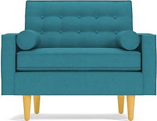 Apt2B Saturn Chair - Leg Finish: Natural - Teal Performance Fabric - Accent Chair - Furniture sold by Apt2B